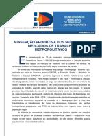3. DIEESE - OS NEGROS NOS MERCADOS DE TRABALHO