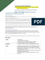 Written Report Work Sheet