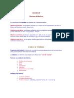Lección 10 (TECNICAS DIDACTICAS).