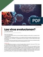 Los virus evolucionan