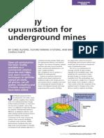 Strategy optimisation for underground mines