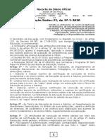 28.03.2020 Resolução Seduc 33-2020 Detalhamento de Atribuições Da CEAPA- CEEJA