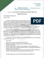 White Pine County Corona Update 3-29-2020