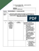 CIENCIAS MONITOREO A LAS ACCIONES PME SEGUNDO SEMESTRE 2019