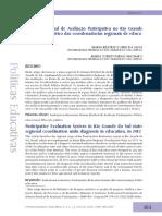 Sistema Estadual de Avaliação Participativa no Rio Grande do Sul diagnóstico das coordenadorias regionais de educação em 2013