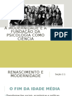 A Modernidade e a fundação da psicologia como