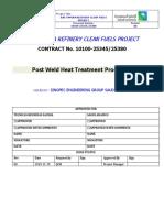 Post Weld Heat Treatment Procedure