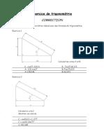 Exercice de trigonométrie 2-correction
