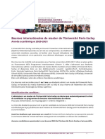 Bourses internationales de master UPSaclay 2020-2021 - procédure