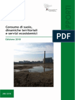 Rapporto Consumo Suolo 2018 2
