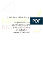 lubricity additive study results