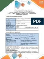 Guía de actividades y rúbrica de evaluación - Fase 3 - Marco normativo  y político de las organizaciones solidarias en Colombia
