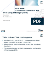 Product Integration TWS and ITOM