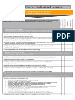 teacher professional growth template - digital format