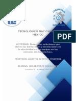 ACTIVIDAD 2 Desarrollar soluciones que eleven las limitaciones y restricciones en la efectividad en los equipos en los sistemas de manufactura.