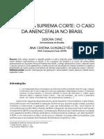 04 - DINIZ, D., VÉLEZ, A. C. G. Aborto na suprema - corte o caso da anencefalia no Brasil