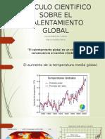 ARTICULO CIENTIFICO SOBRE EL CALENTAMIENTO GLOBAL