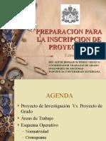 PREPARACION PARA LA INSCRIPCION DE PROYECTO I(18-02-2005)PM
