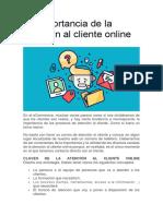 La importancia de la atención al cliente online