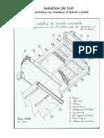 isolation de toit avec panneaux ou rouleaux croisé