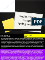 student writing samples-spring semester