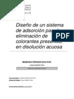 CASTELLÓ - Diseño de un sistema de adsorción para la eliminación de colorantes presentes en disol...