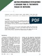 Definicion de parametros operacionales