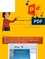 Karaoke en PowerPoint