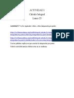 Actividades Cálculo Integral