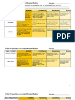 film project assessment guide rubric