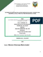 Informe de IAP Prácticas Preprofesionales 3ro B