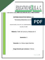 5) TALLER DE LECTURA Y REDACCION