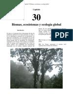 Biomas, ecosistemas y ecologia global