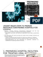 How to Prepare Hospitals in Resource-Poor Environments and in the Third World for COVID19