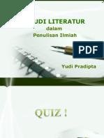 1. studi literatur dalam Penulisan Ilmiah
