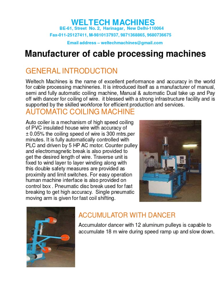 Welltech Machines | Wire | Machines