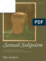 Rae Langton - Sexual Solipsism_ Philosophical Essays on Pornography and Objectification-Oxford University Press (2009).pdf