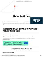 Insights Daily Current Affairs + PIB_ 25 June 2019 - INSIGHTS