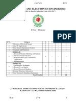 R16 - IV-i - EEE - Syllabus n Previous QPs