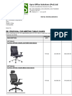 Estimate for Meeting room chairs