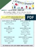 LISTA DE PRECIOS FEBRERO 2020 libreria