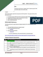 CMS Quality Pillar -  PRP & HACCP Checklist
