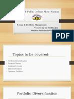 Portfolio Diversification &MPT.pptx