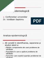 4. Analiza epidemiologică