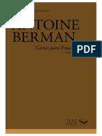 ATIVIDADE EDITORIAL_ANTOINE BERMAN_ZAZIE EDICOES_2019