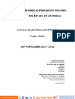 1. Antropología cultural. PRIM