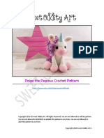 Unicorn crochet_eng