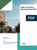 Safe Evacuation Questionnaire 2020