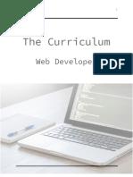 Web Developer Curriculum - Summary_NEW