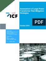Assessment of Large Power Transformer Risk Mitigation Strategies